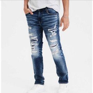American Eagle Distressed Skinny Denim Jeans 31x32